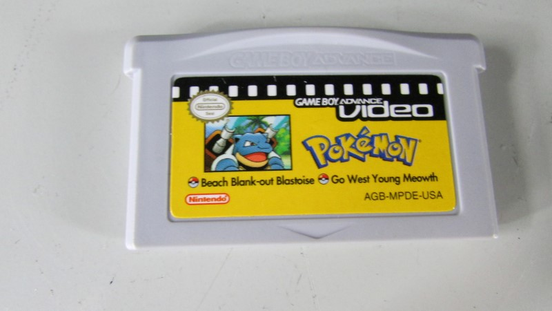 POKEMON GBA VIDEO - BEACH BLANK-OUT BLASTOISE GO WEST YOUNG MEOWTH