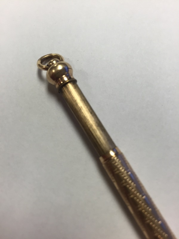 Antique 10K Solid Yellow Gold Chatelaine Mechanical Lead Pencil