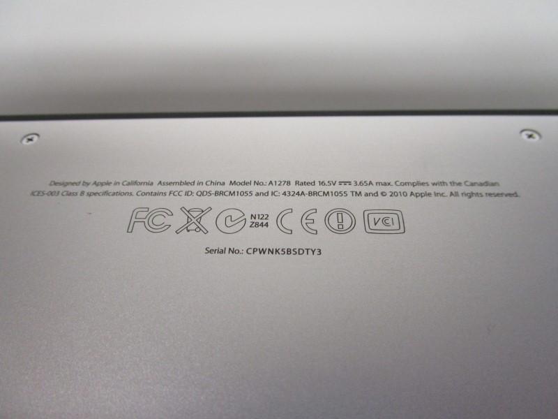 "APPLE MCBOOK PRO A1278, 13"", 500 GB, 4 GB RAM, INTEL CORE i5"