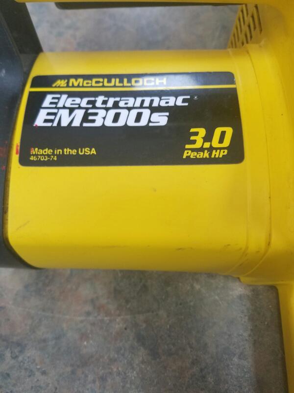 MCCULLOCH Chainsaw EM300S