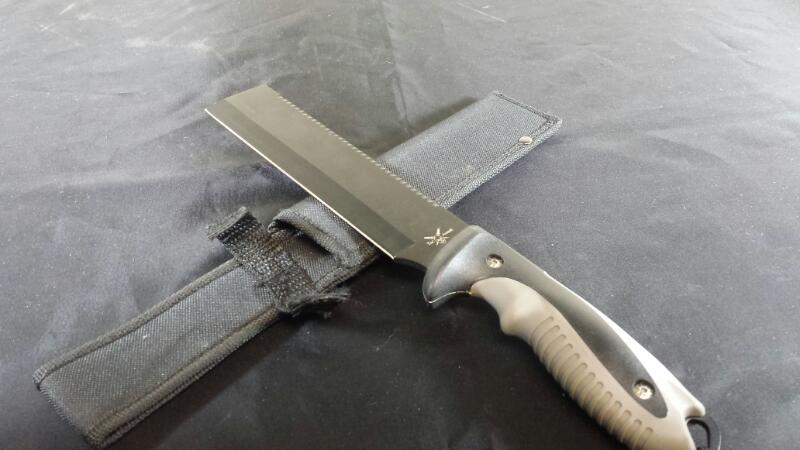Frost Cutlery FTA009B Tac Assault Flat End Bowie Knife