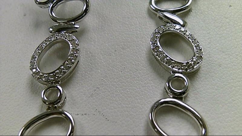 1/2 CTTW Diamond 14K White Gold Dangle Earrings