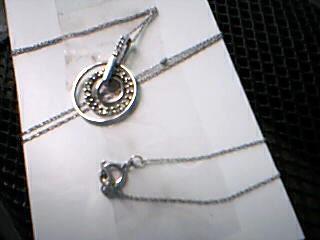 Diamond Necklace 15 Diamonds .35 Carat T.W. 10K White Gold 2.51g