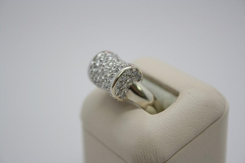 LADY'S FASHION DIAMOND RING 14K WHITE GOLD