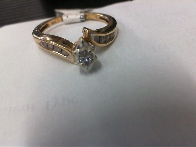 Lady's Diamond Engagement Ring 9 Diamonds .34 Carat T.W. 10K Yellow Gold 2.2g