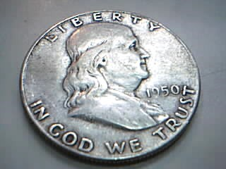UNITED STATES Silver Coin 1950 LIBERTY HALF DOLLAR