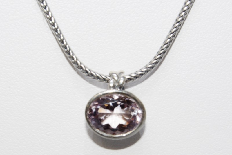 Retired Pandora 925 ALE Pink Amethyst Necklace Tied Together 390123PAM-50