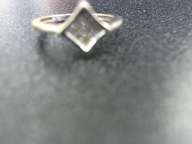 Lady's Diamond Fashion Ring 12 Diamonds .36 Carat T.W. 10K White Gold 2.8g