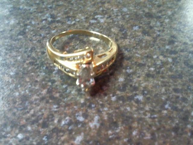 Lady's Diamond Cluster Ring 17 Diamonds .41 Carat T.W. 14K Yellow Gold 3.3g