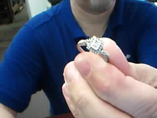 Lady's Silver-Diamond Ring 31 Diamonds .43 Carat T.W. 925 Silver 2.5g