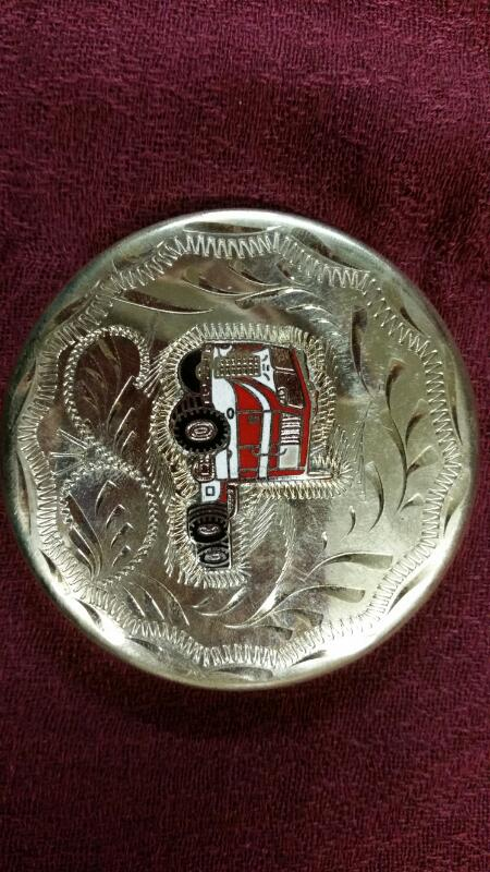 German Silver Chew Can Lid by Western Flair