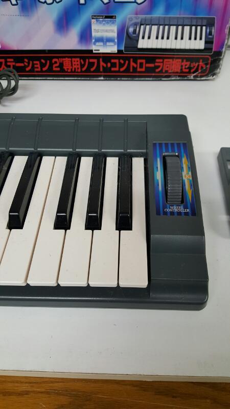 KeyboardMania controller + PS2 GAME Set Import Japan