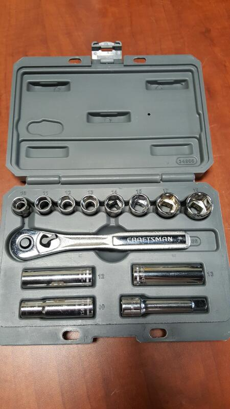 CRAFTSMAN Sockets/Ratchet 934866 13 PC SOCKET WRENCH SET