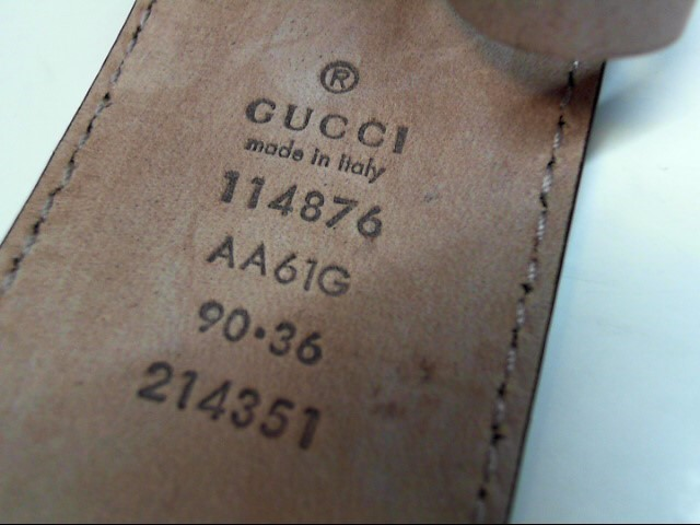 GUCCI GUCCISSIMA BELT WITH INTERLOCKING G 114876 - BLUE