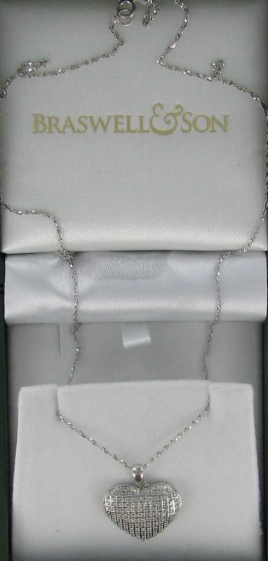 Diamond Necklace 112 Diamonds 1.12 Carat T.W. 10K White Gold 2.3dwt