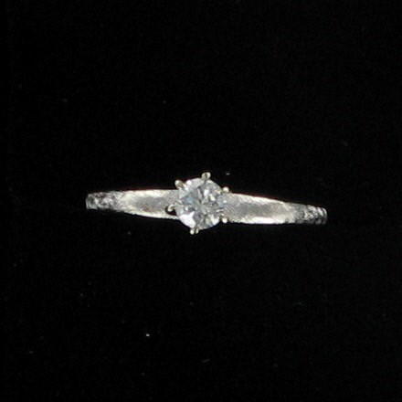Lady's Diamond Solitaire Ring .25 CT. 10K White Gold 1.7dwt