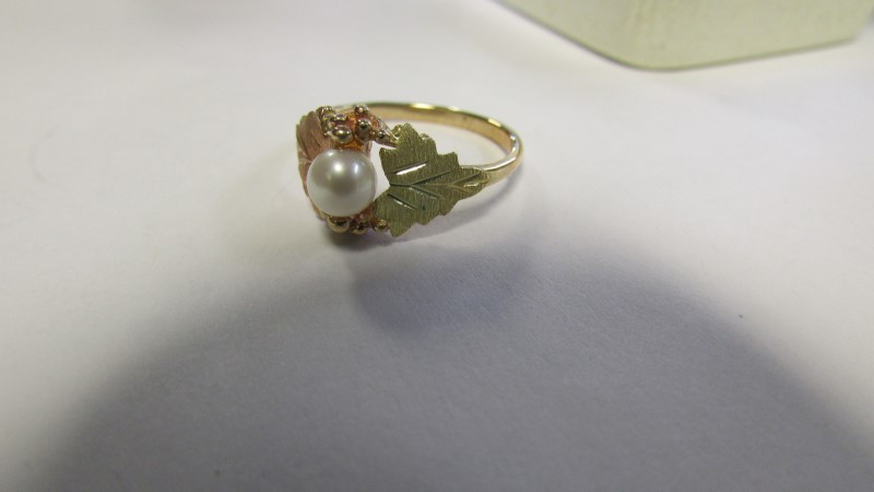 PERAL BLACK HILLS GOLD Lady's Gold Ring 10K Yellow Gold 2.6g Size:7