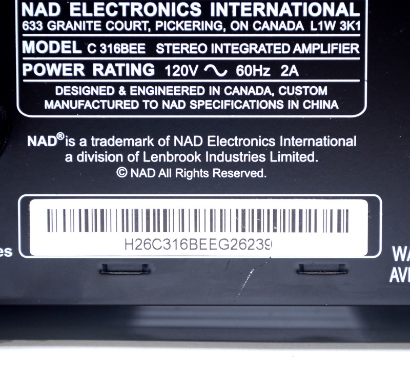 NAD C 316BEE Stereo Integrated Amplifier Six Line Level Inputs>