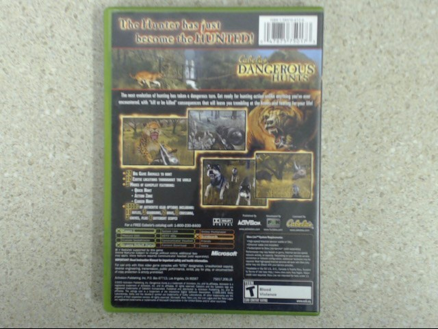 Cabela's Dangerous Hunts (Microsoft Xbox, 2003) Complete