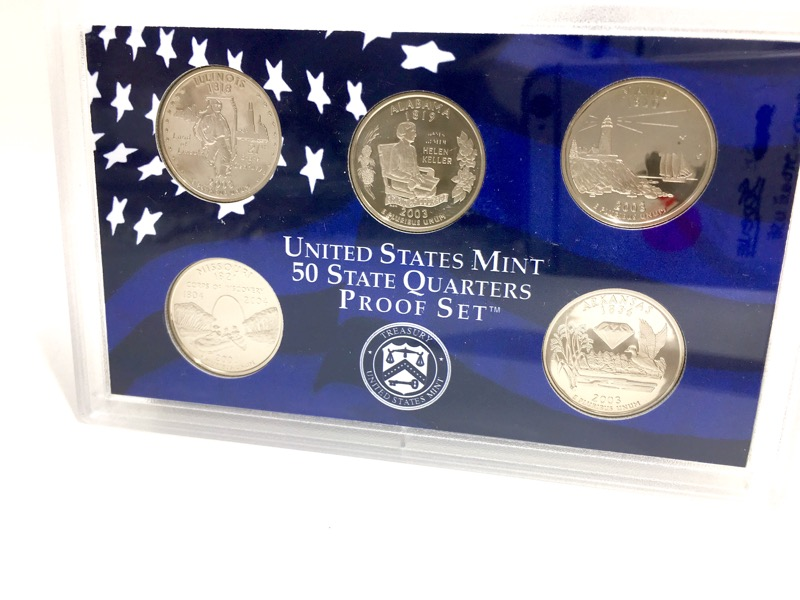2003 United States Proof Set - 10 Coins - With Box & COA