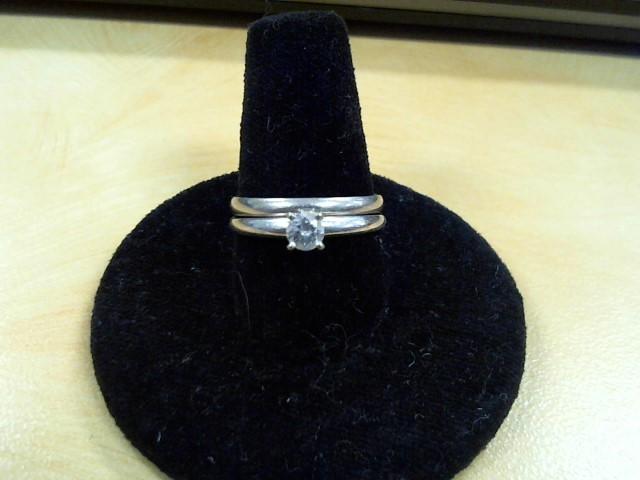 Lady's Diamond Wedding Set .17 CT. 14K White Gold 2.5g