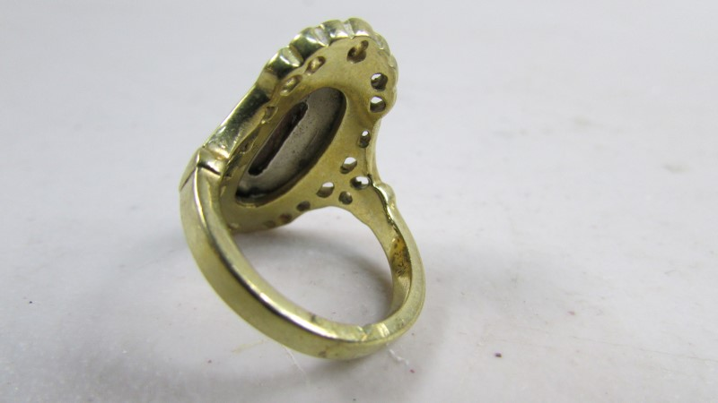 Gent's Gold Ring 10K Yellow Gold 6.52g Size:6.5