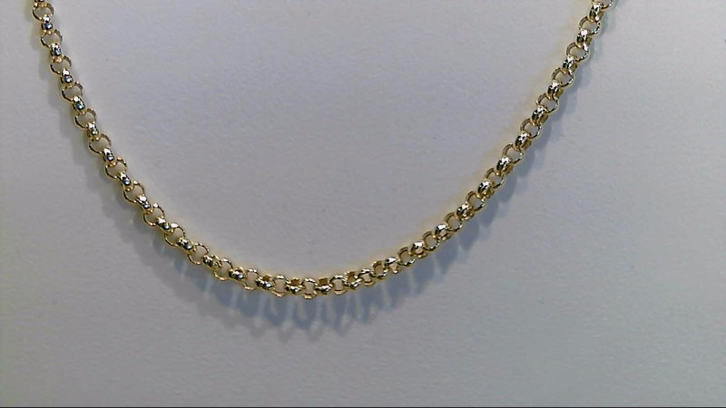 Lady's 14k yellow gold 16inch fashion chain
