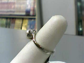 Pearl Lady's Stone Ring 10K White Gold 1.8dwt