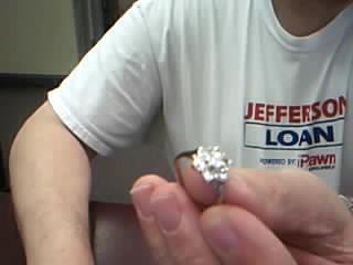 Lady's Diamond Cluster Ring 7 Diamonds 1.10 Carat T.W. 14K White Gold 3.41g