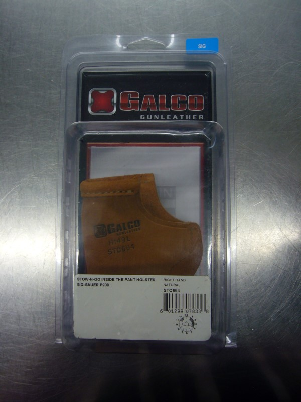 GALCO Holster LEATHER INSIDE-THE-PANT HOLSTER FOR SIG SAUER P938