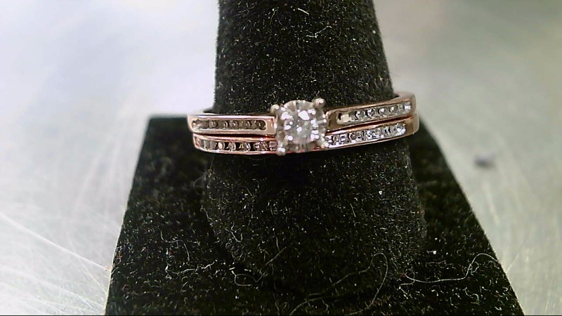 Lady's Diamond Wedding Set 31 Diamonds .35 Carat T.W. 10K Rose Gold 3.3g