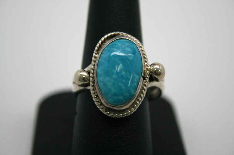 FASHION TURQUOISE SILVER RING 10