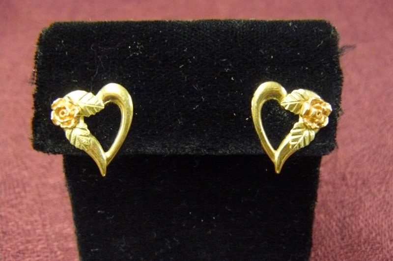 Gold Earrings 10K Yellow Gold 1.19dwt