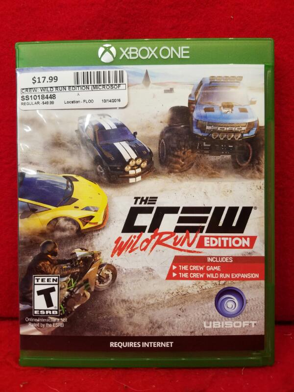 Crew: Wild Run Edition (Microsoft Xbox One, 2015)
