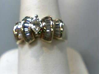 Lady's Diamond Engagement Ring 29 Diamonds .73 Carat T.W. 14K Yellow Gold 4dwt