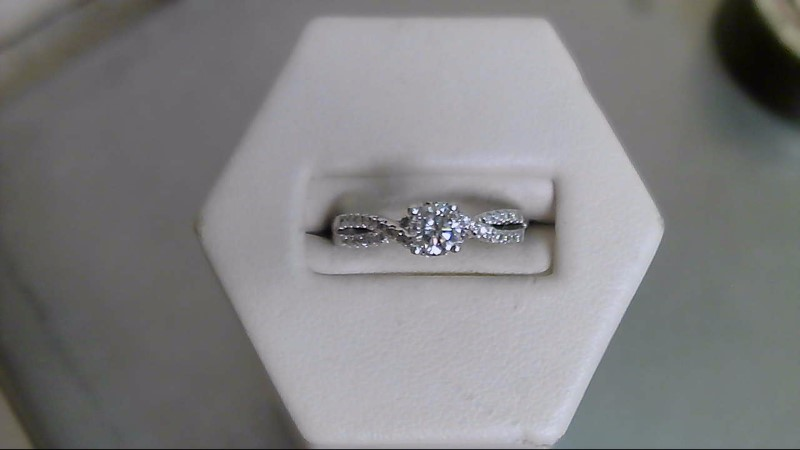 Lady's Diamond Engagement Ring 37 Diamonds .64 Carat T.W. 14K White Gold 3.1g