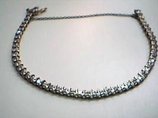 Gold-Diamond Bracelet 50 Diamonds 1.50 Carat T.W. 14K Yellow Gold 9.3g
