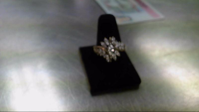 Lady's Diamond Fashion Ring 25 Diamonds 1.65 Carat T.W. 10K Yellow Gold 5.8g