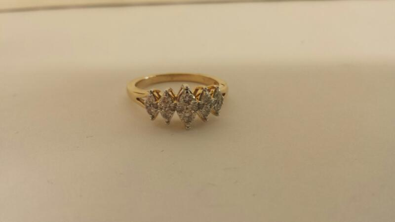 Lds 10K-Y/G Diamond Anniversary Ring