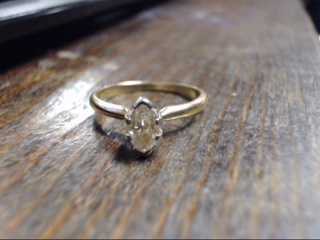 Lady's Diamond Solitaire Ring .50 CT. 14K Yellow Gold 2.4g Size:7