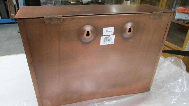 IMAX 44090 Tauba Copper Finish Mail Box