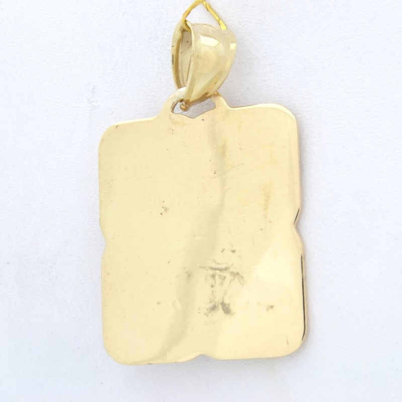 JESUS PORTRAIT PENDANT CHARM SOLID REAL 14K GOLD CHRISTIAN RELIGIOUS