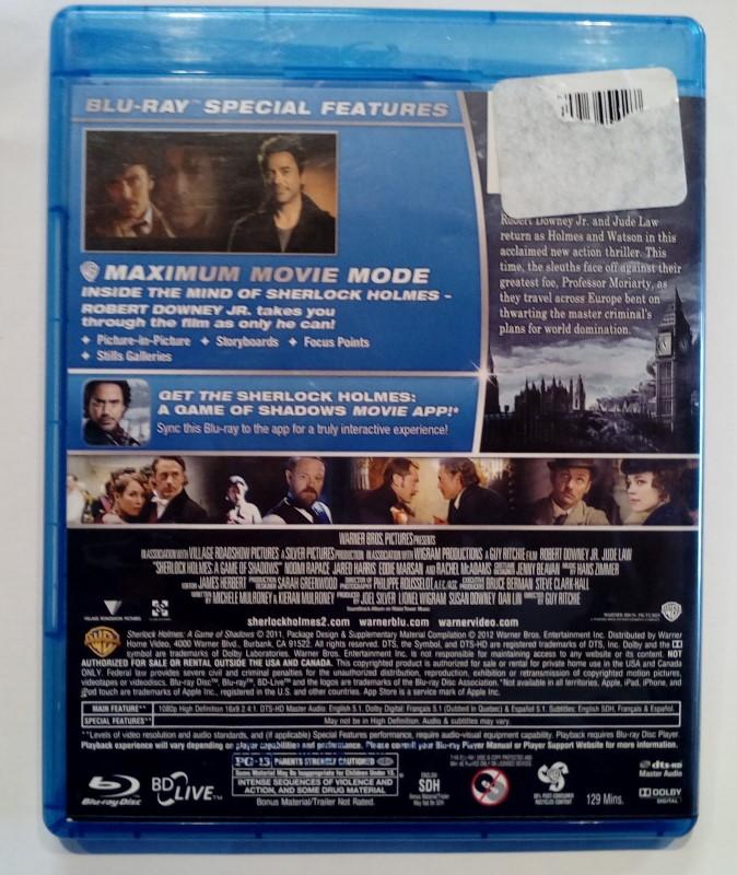 SHERLOCK HOLMES ADVENTURE BLU-RAY DVD, STARRING ROBERT DOWNEY JR.