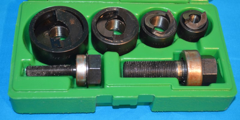 "Greenlee 7235BB 1/2""-1-1/4"" Slug Buster Knockout Punch 6-Piece Set w/Case"