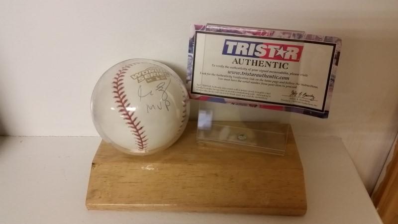 "Manny Ramirez Autographed Baseball ""MVP"" w/ Tri-Star COA"