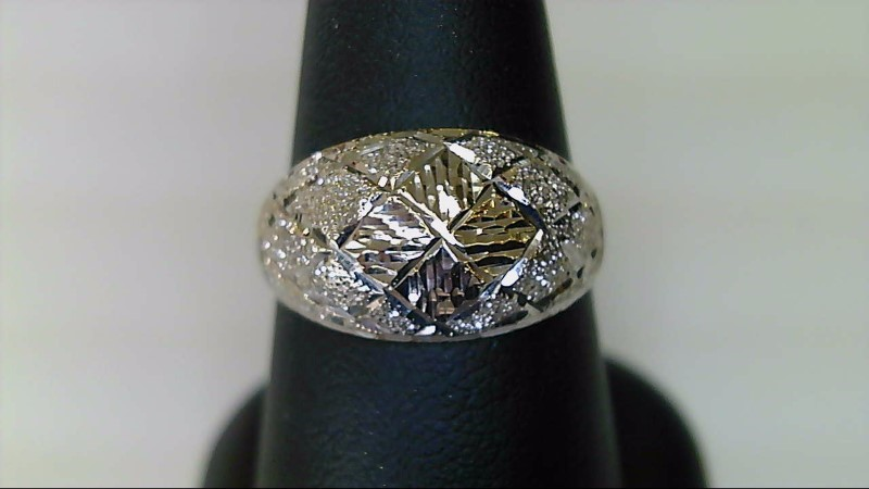 LADY'S 18K WHITE GOLD SZ 8 DOME RING