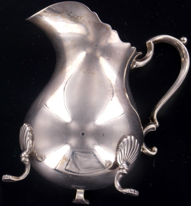 JACK SHEPARD 9464 STERLING SILVER CREAMER AND SUGAR BOWL
