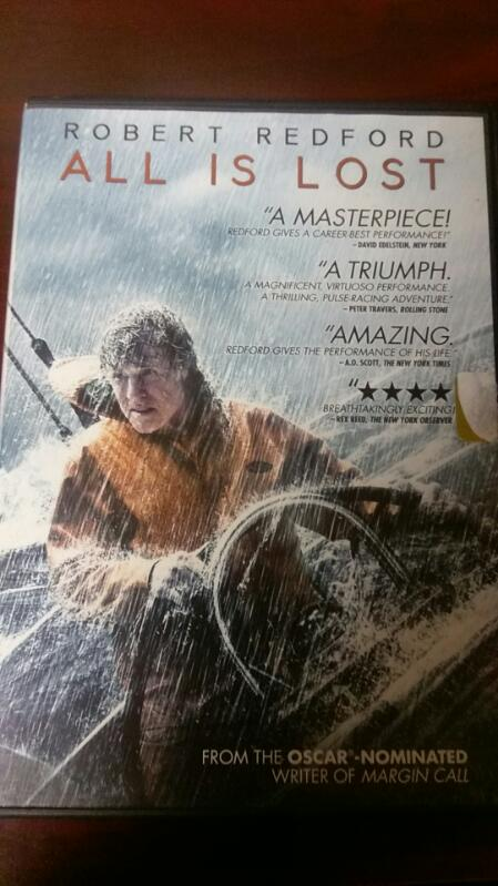 ALL IS LOST FEATURING ROBERT REDFORD DVD MOVIE