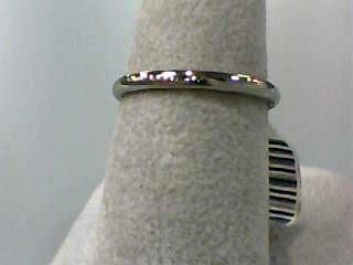 Lady's Gold Wedding Band 10K White Gold 0.9dwt Size:6.5