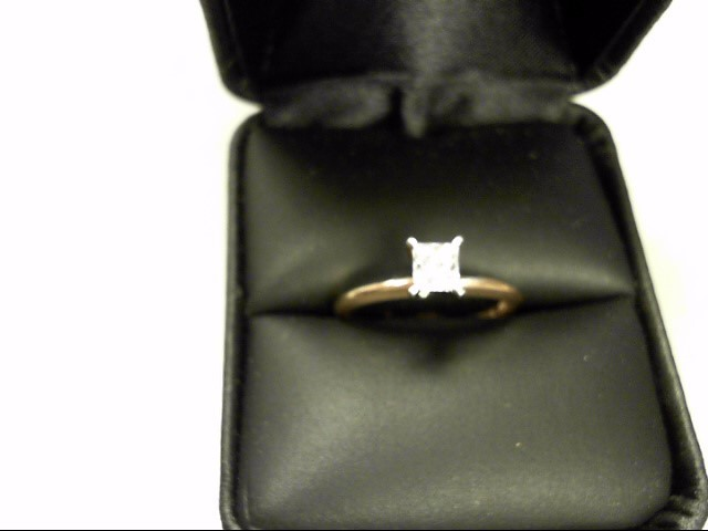 Lady's Diamond Solitaire Ring .45 CT. 14K Yellow Gold 2.55g